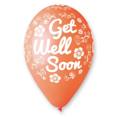 11'printelt léggömb Get well soon 10db/cs